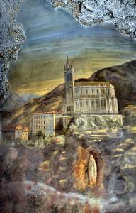la prima basilica inaugurata nel 1871 sopra la grotta
